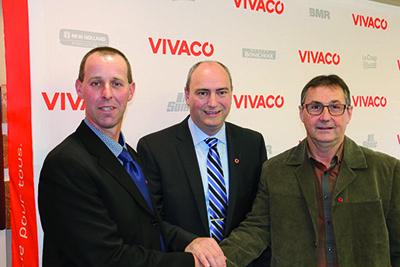 MMAndré Normand, président, Gervais Laroche, directeur général ainsi que Renaud Bergeron, vice-président. .