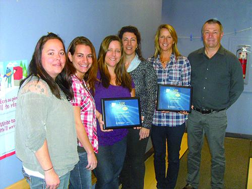 Sur la photo, de gauche à droite, les membres du comité : Marie-Claude Marois, Anik Morissette, Audrey Mainville, Nadia Faucher, Denise Roy et Serge Rousseau