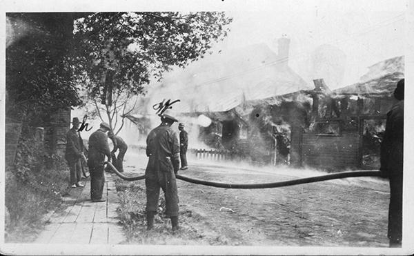 Incendie à Garthby
