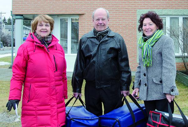 Marguerite Lachance, Denis Marcoux et Huguette Lambert Photo par: Isabelle Laflamme