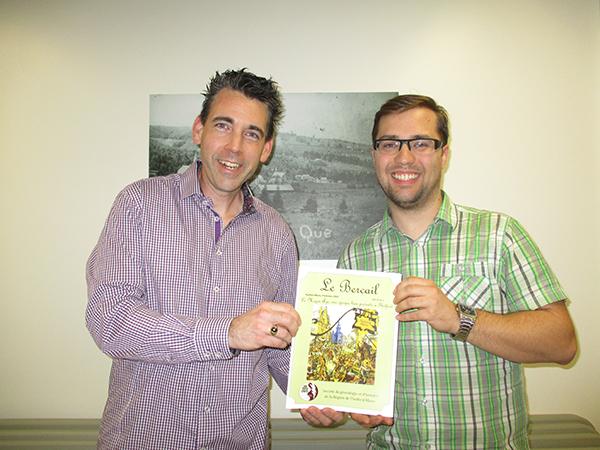 M. Stéphan Garneau, auteur, et M. Patrick Houde, responsable du comité des usagers