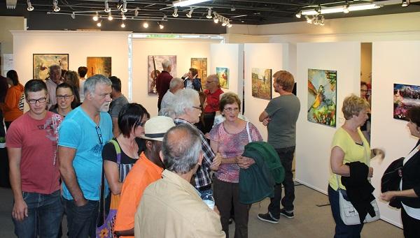 Vernissage de l'exposition Vitrines sur l'art 2016